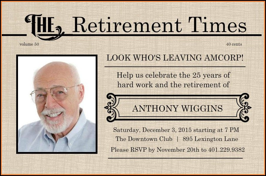 Free Printable Retirement Flyer Template