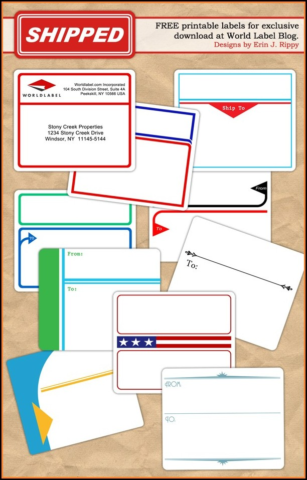 Free Printable Shipping Label Templates