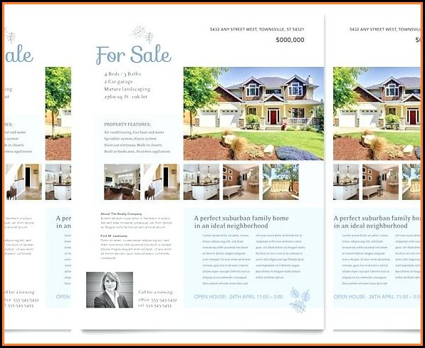 Free Real Estate Listing Brochure Template