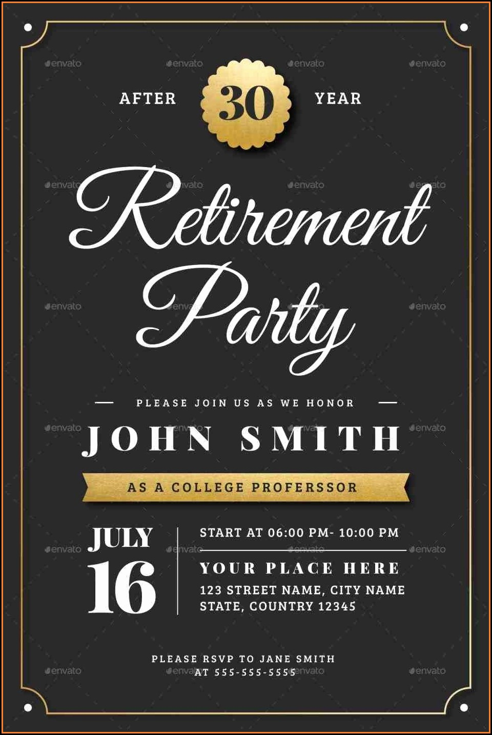 Free Retirement Flyer Template Powerpoint