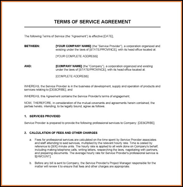 Free Service Agreement Template Download