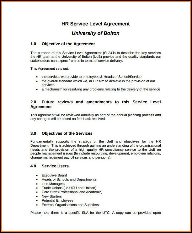 Free Service Agreement Template South Africa