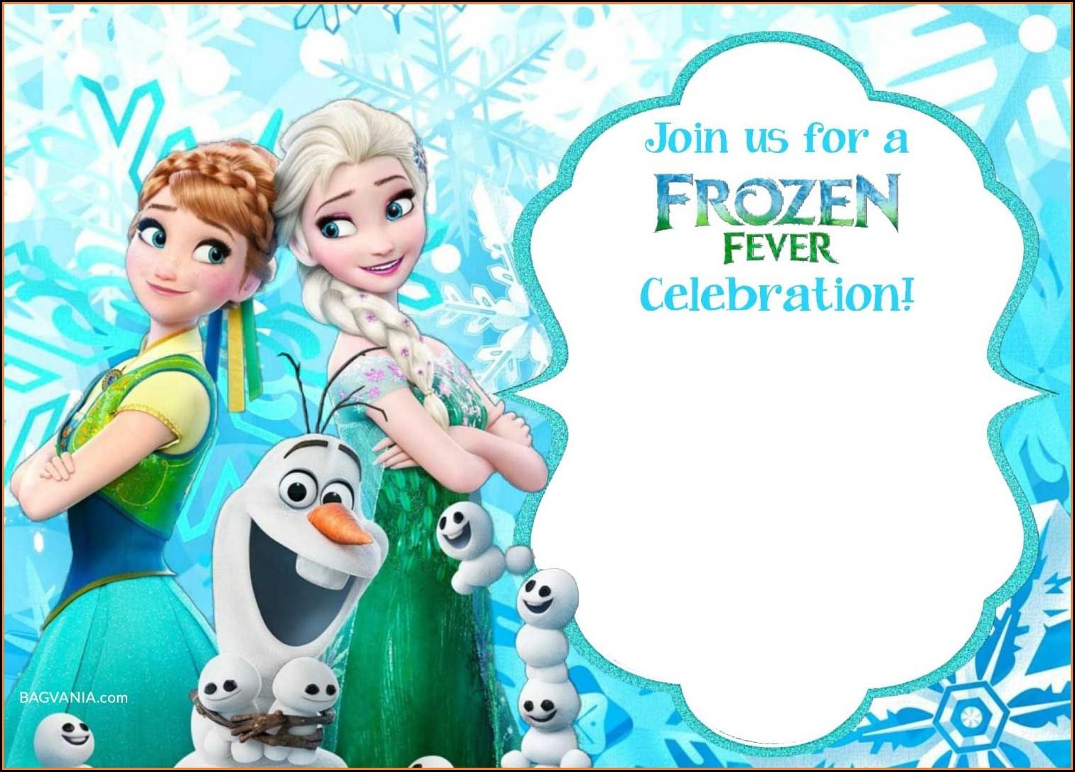 Frozen Invitation Template Free