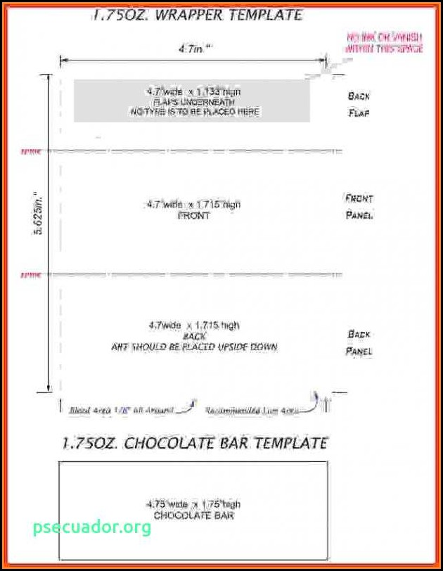 Full Size Candy Bar Wrapper Template