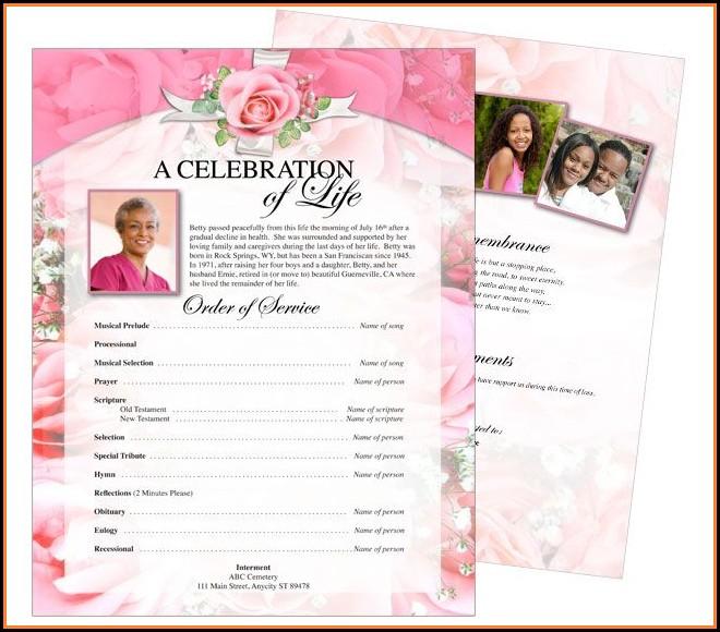 Funeral Flyer Samples