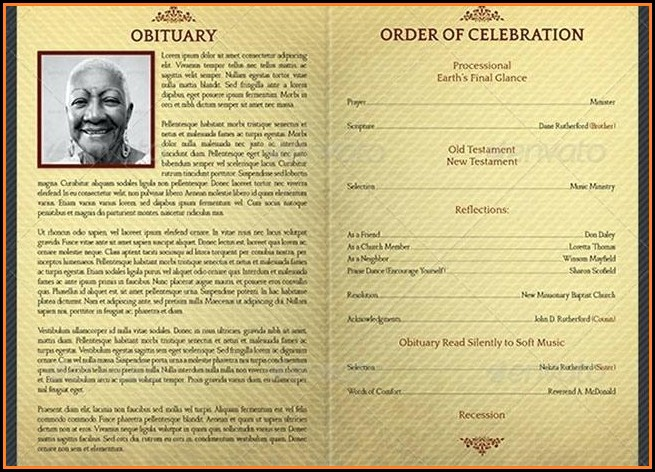 Funeral Home Program Template