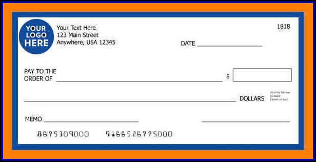 Giant Check Template