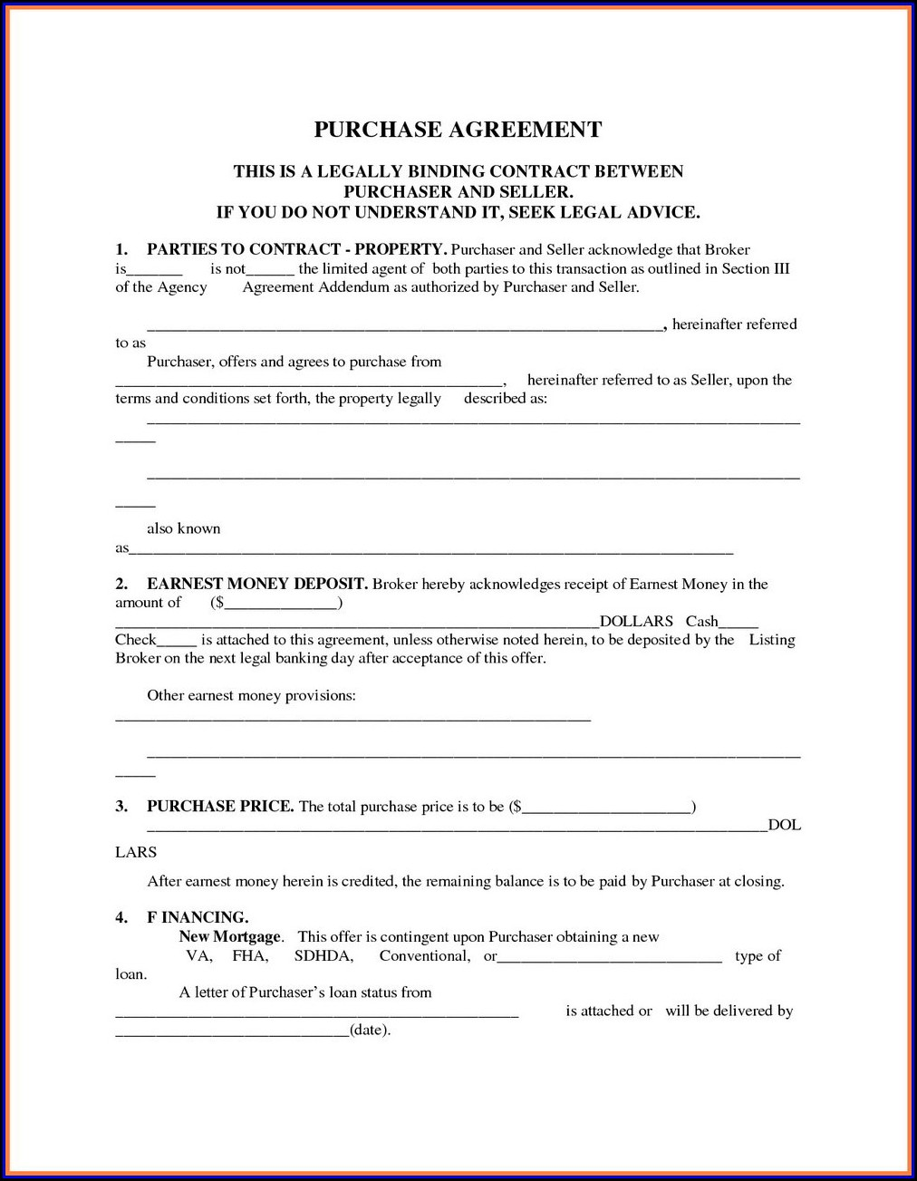 Goods Purchase Agreement Template Word