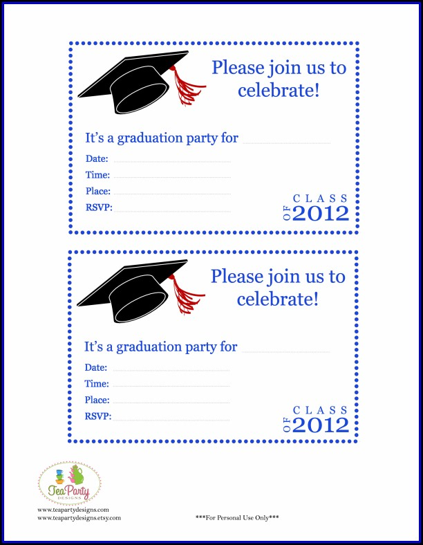 Graduation Party Invitations Templates Free
