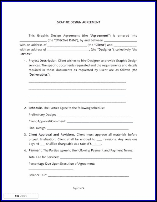 Graphic Design Contract Template