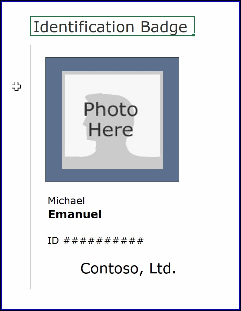 Id Badge Template Free Online
