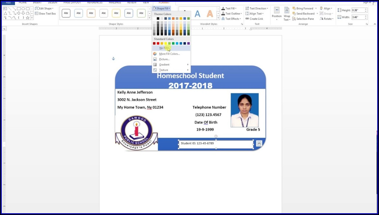 Id Badge Template Word 2010