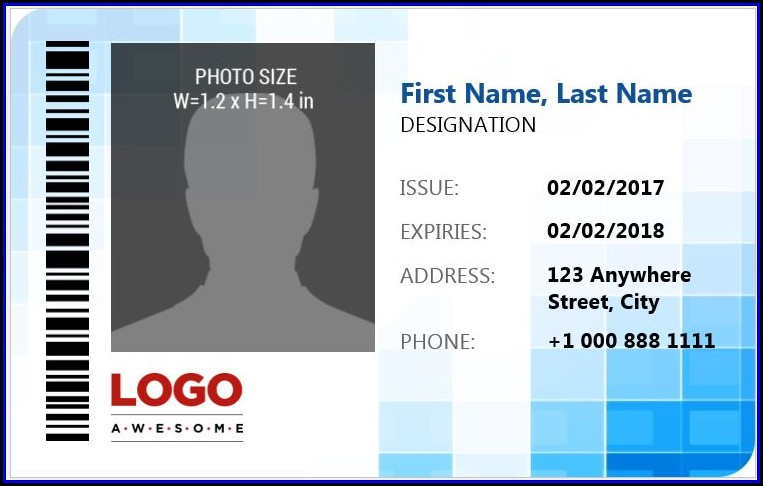 Id Badge Template Word