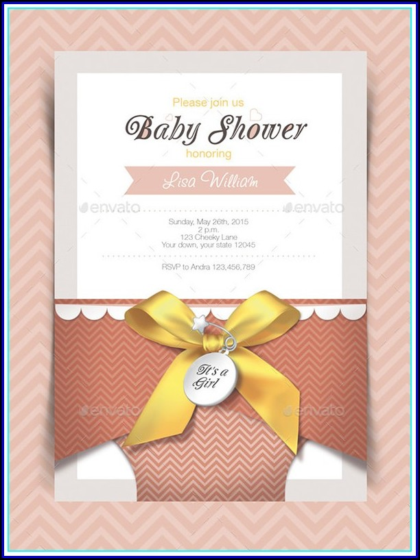 Indian Baby Shower Invitation Card Template Free Download