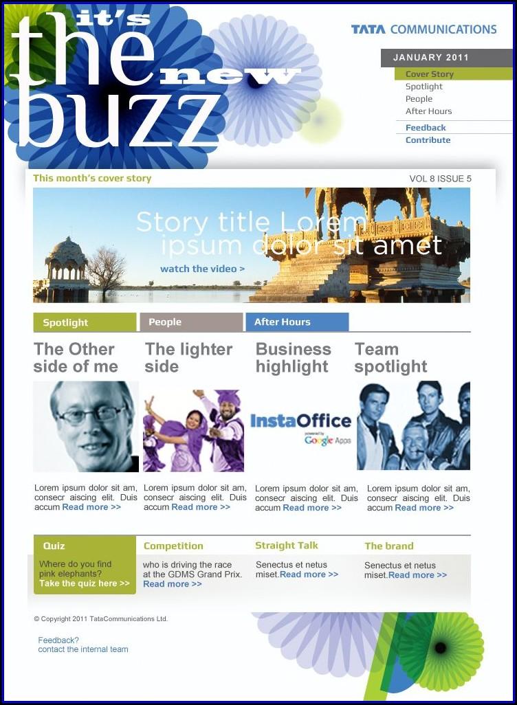 Internal Employee Newsletter Templates