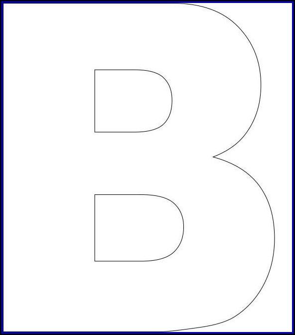 Large Alphabet Templates Printable