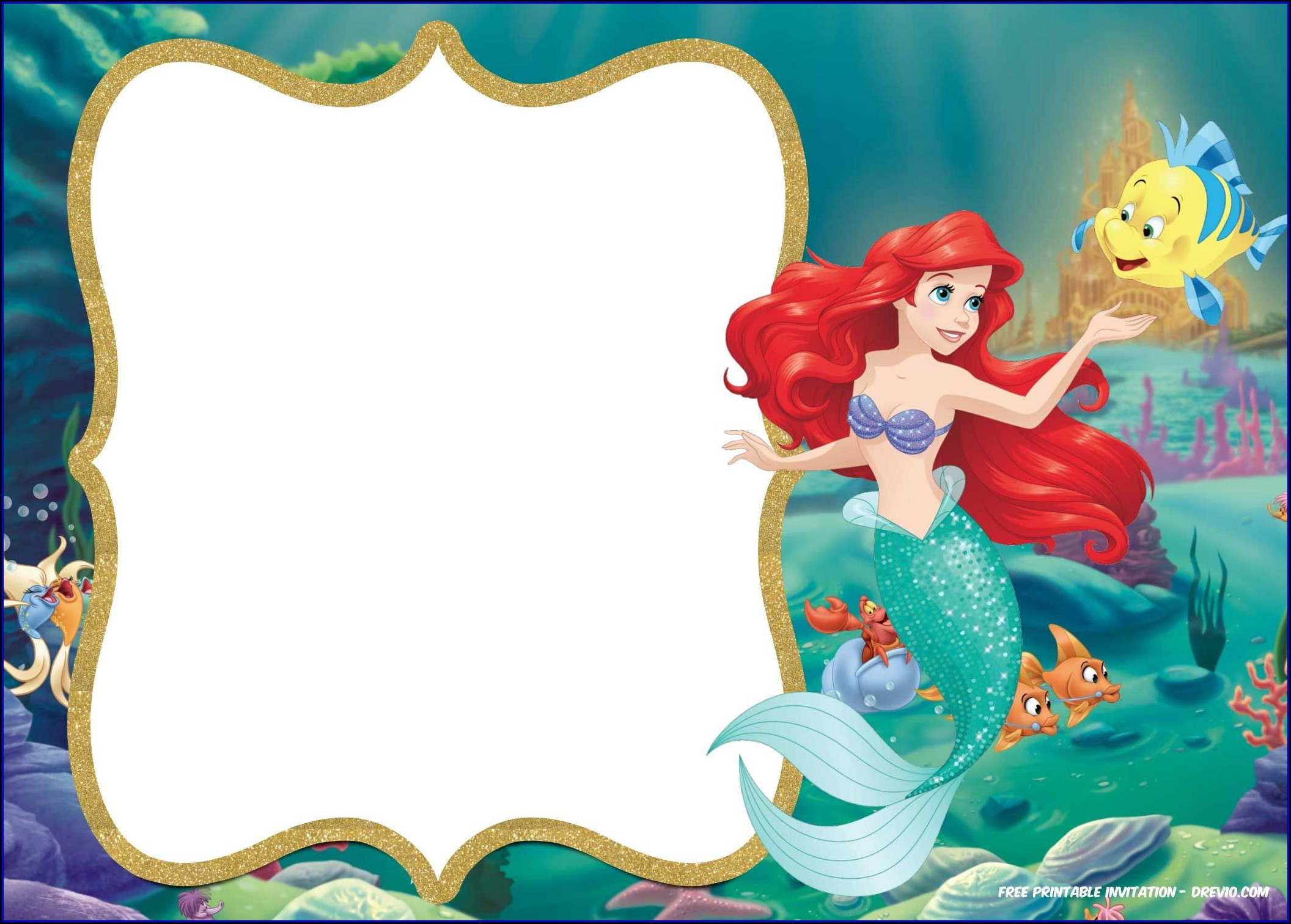 Little Mermaid Invitation Template