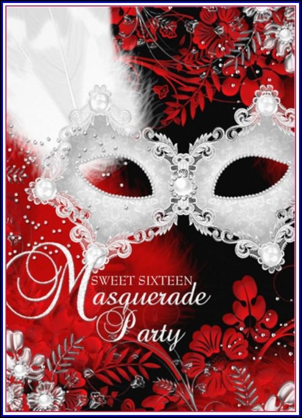 Masquerade Mask Invitation Template