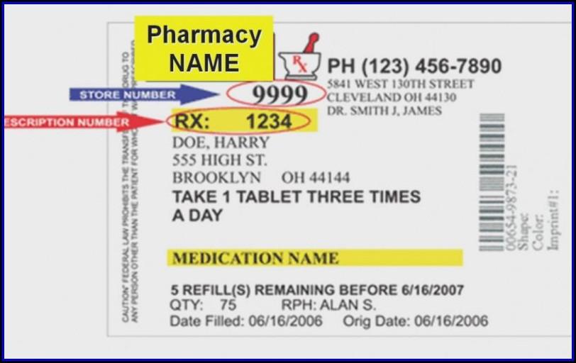 Medication Bottle Label Template