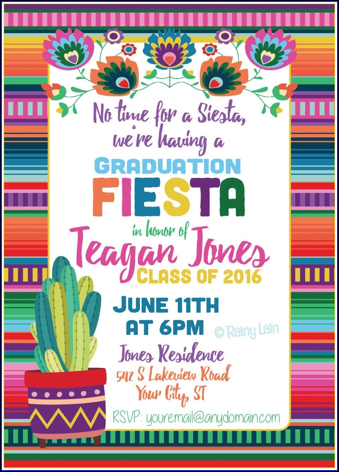 Mexican Fiesta Invitation Template