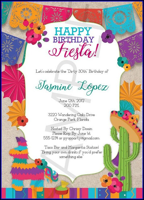 Mexican Invitation Template