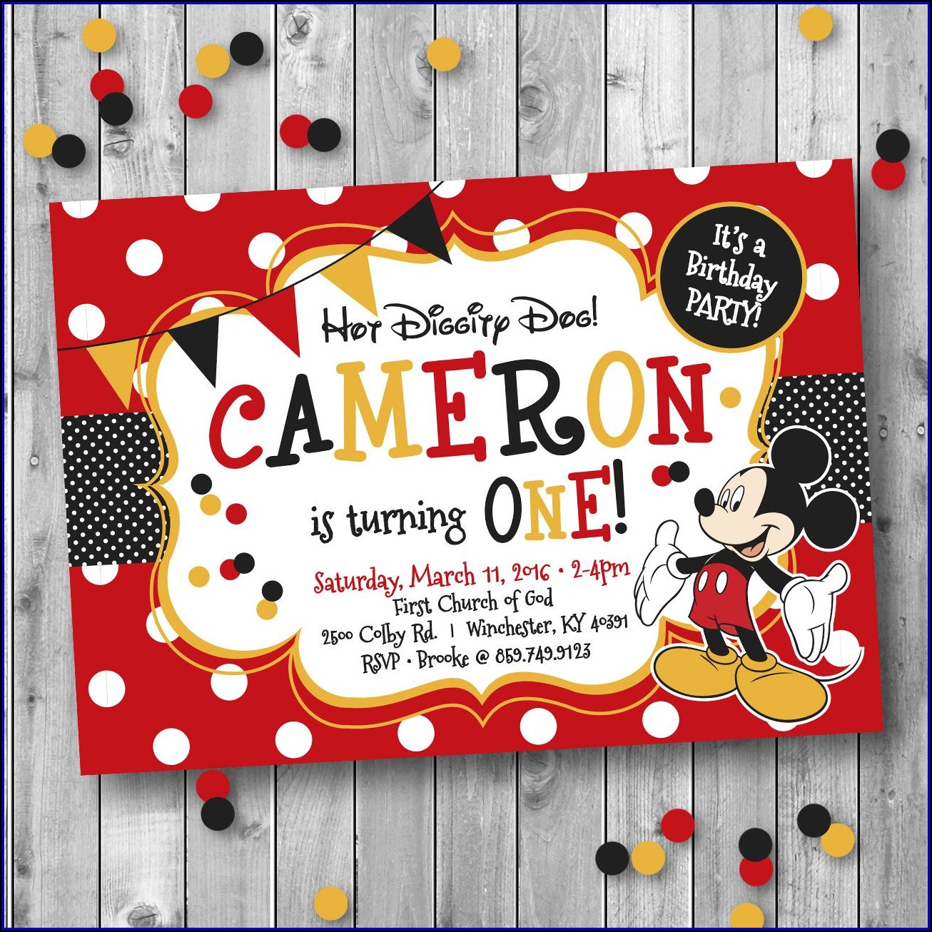 Mickey Mouse Birthday Invitation Designs