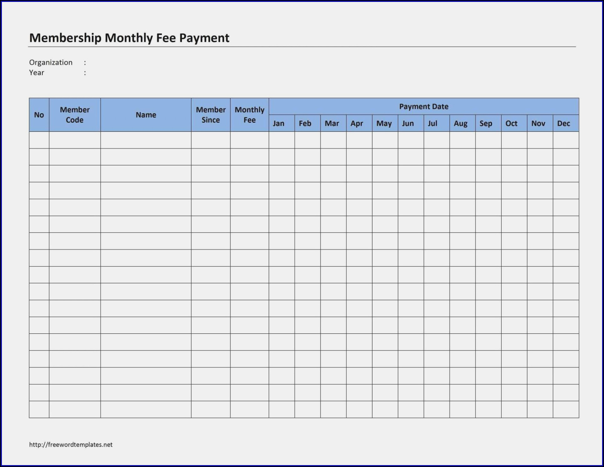 Monthly Business Expense Template Pdf