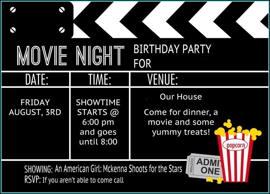 Movie Ticket Invitation Template Free