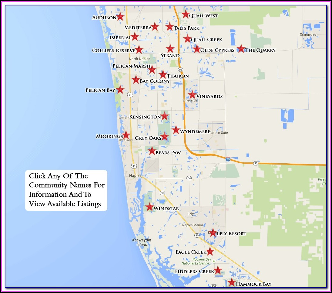 Naples Florida Real Estate Map Search