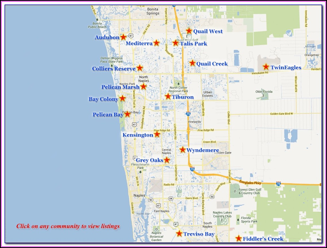 Naples Florida Real Estate Map