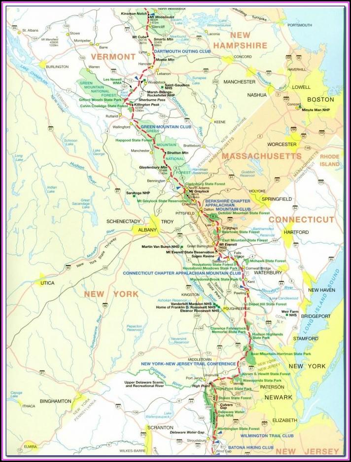 North Georgia Appalachian Trail Map