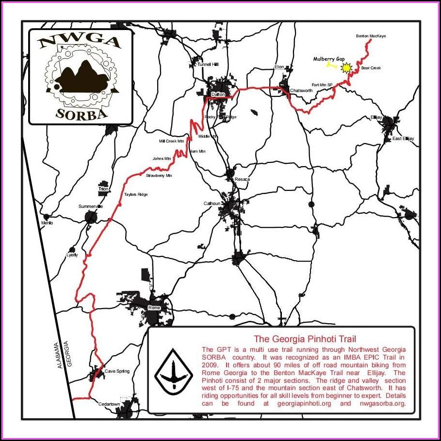 North Georgia Mountain Bike Trail Maps