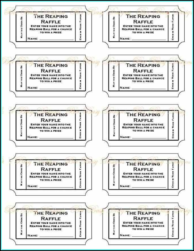Numbered Raffle Ticket Template Free