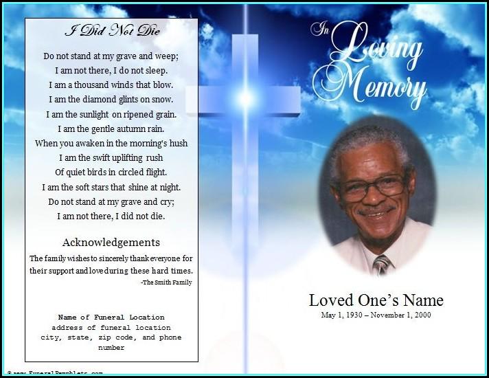 Obituary Program Templates Free