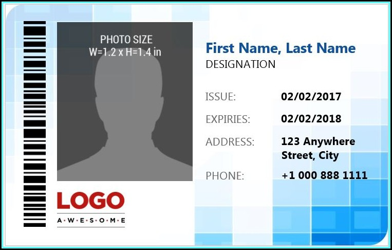 Photo Id Badge Template Word