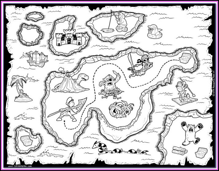 Pirate Map Pictures To Print
