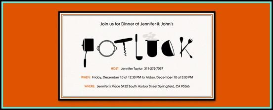 Potluck Invitation Template Free Download