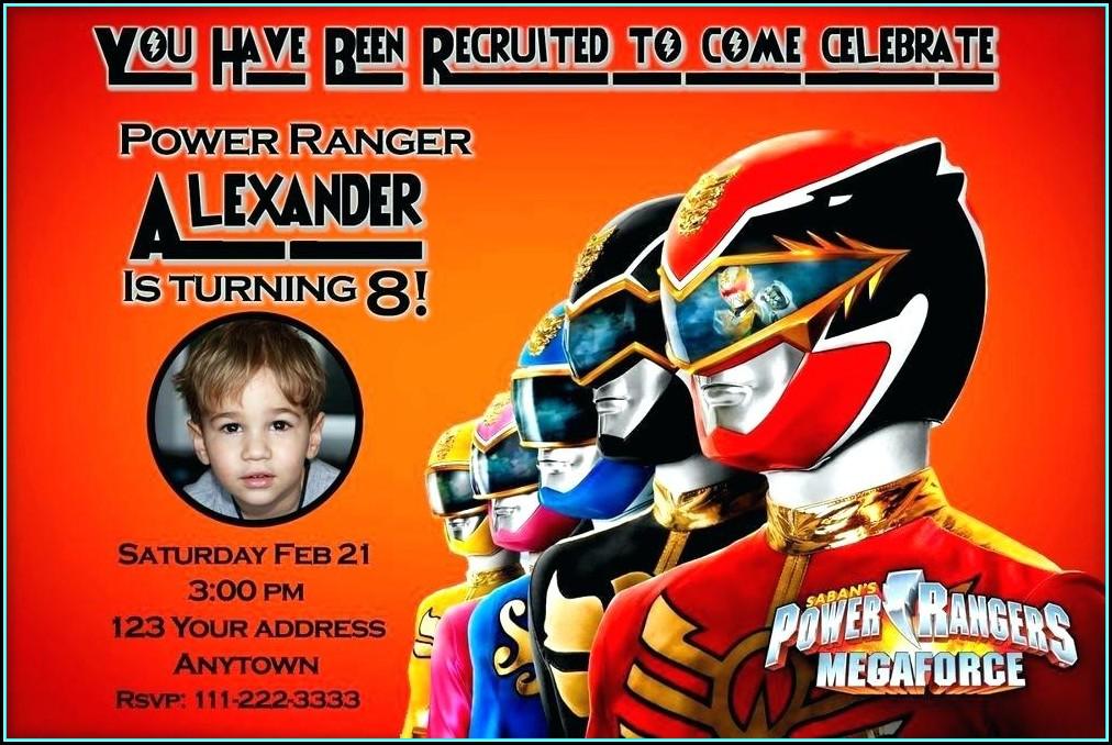 Power Ranger Ninja Steel Invitations Template