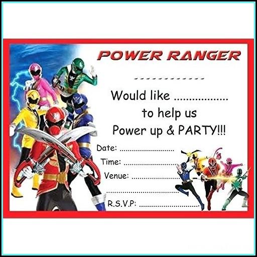 Power Rangers Birthday Invitations Template