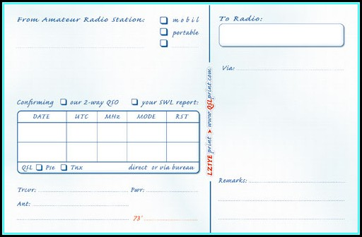 Powerpoint Qsl Card Template