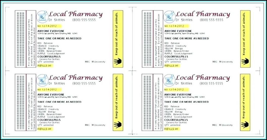 Prescription Bottle Label Template Download
