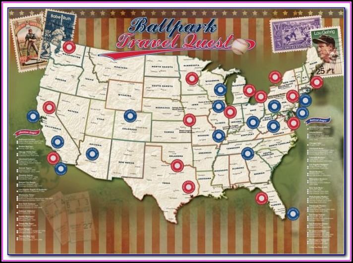 Printable Map Of Mlb Ballparks