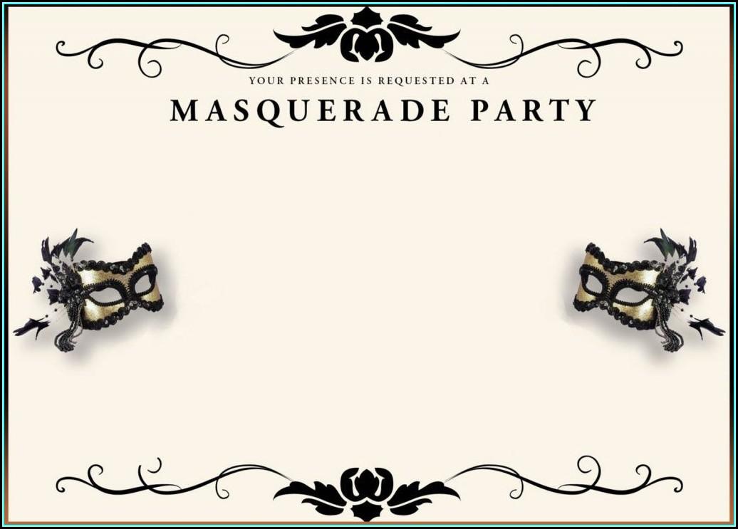 Printable Masquerade Invitation Template
