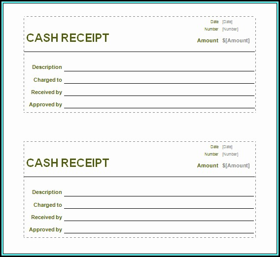 Printable Receipt Template Uk