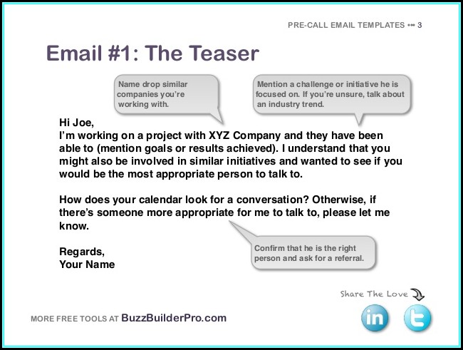 Prospecting Email Templates
