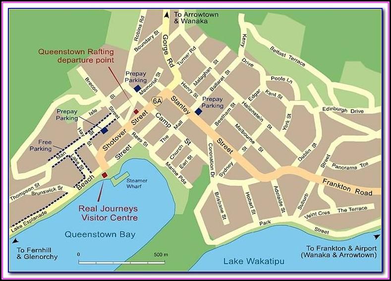 Queenstown Street Map Online