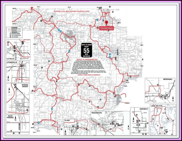 Snowmobile Trail Map Douglas County Wisconsin