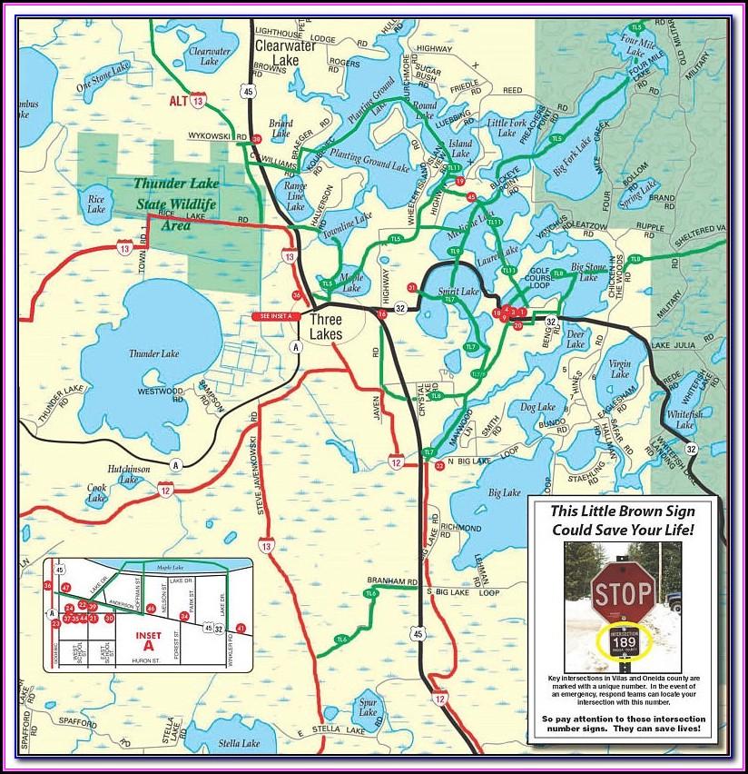 Snowmobile Trail Map Rhinelander Wi