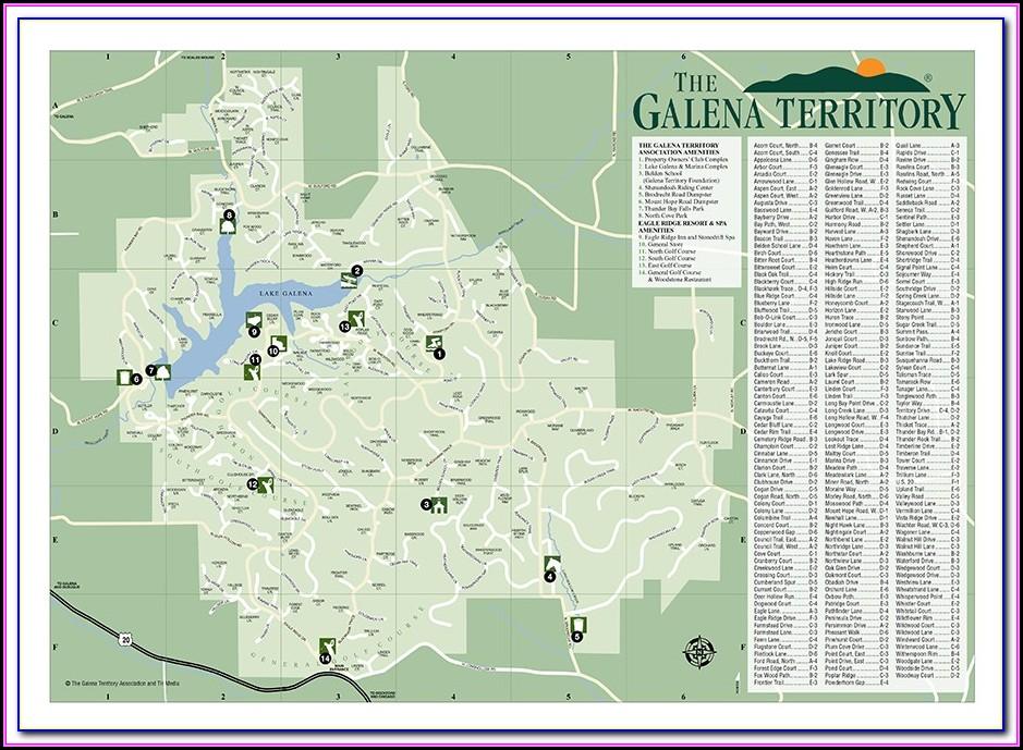 Street Map Of Galena Illinois