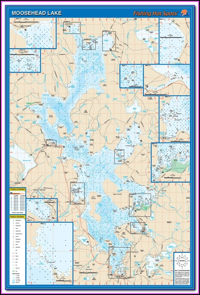Topo Map Moosehead Lake Maine
